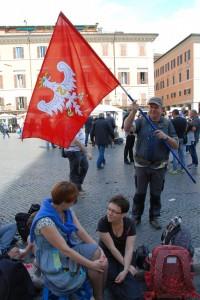 Śląscy pielgrzymi zeSławkowa. Piazza Navona