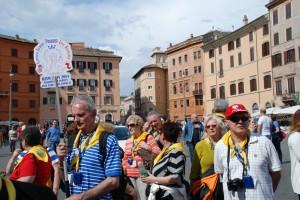 Pielgrzymi. Piazza Navona