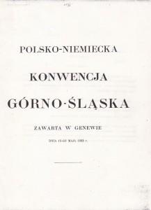 Okładka Konwencji Górnosląsiej z 1922 r.