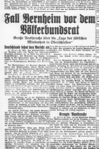 prasa o postepowaniu w sprawie Petycji Bernheima, maj 1933