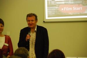 Andrzej Klamt. Jeden z autorów filmu. Pokaz w Muzeum Śląskim w Goerlitz