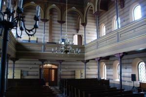 Wnętrze synagogi. Widok wkierunku zachodnim