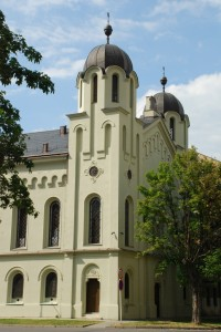 Synagoga wKarniowie. Masyw wieżowy.