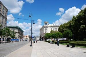 Warsaw in blue