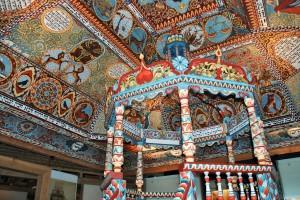Fragment rekonstrukcji synagogi zGwoźdźca (zużyciem flesza)
