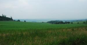 A za wzgórzami Opawa... Padał deszcz