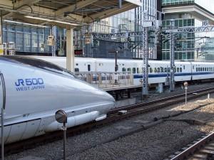 Shinkansen trains. Tokyo Central Station