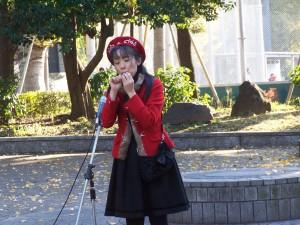 Kawaii, niekawaii, wygląda ślicznie... (Ueno park, Tokio)