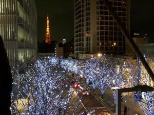 Iluminacja świąteczna jest baardzo kawaii (Roppongi, Tokio)