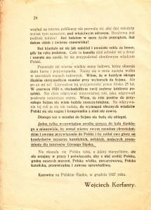 Ostatnia strona odezwy Wojciecha Korfantego, DoLudu Śląskiego... (1927)