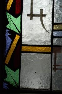 Fragment dekoracji witrażowej, ul.Zwycięstwa 33, Gliwice