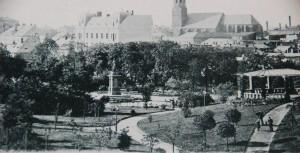 Widok z okna. Rok 1899