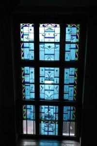 Art decowski witraż, III piętro, ul.Zwycięstwa 33 (stan 2007)