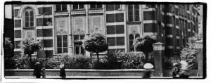 Powiększenie / Enlargement, Opava/Troppau (in the background non-existing synagoge in Troppau)