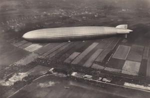 Graf Zeppelin nadgliwickim lotniskiem, lipiec 1931r.