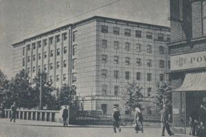 Dawny Haus Oberschlesien po odbudowie i adaptacji na początku lat 50-tych XX wieku. Gliwice (reprod. pocztówki S. Polony-Polonskiego)
