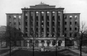 Ruiny dawnego Haus Oberschlesien. Lata 40-te  XX wieku.