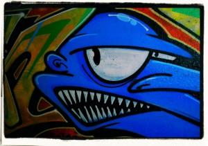 Keep smiling / Uśmiechnij się (Kraków, fragment graffiti, 2013)