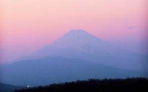 Fuji at sunset / Fuji o zachodzie (Izu Peninsula/ Półwysep Izu)