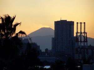 Fuji widziana z Odaiby / Fuji - san as seen from Odaiba, Tokyo
