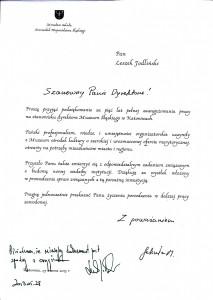 List Sekuły M. z 29 marca 2013 roku.
