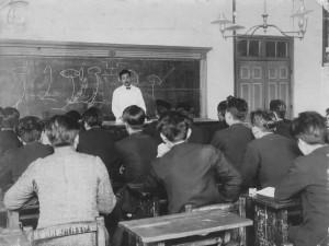 Nauka wszkole morskiej, początek XX wieku, Hokkaido (zb. własne)