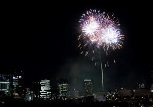 Ogień (Fireworks, Odaiba, Tokyo)