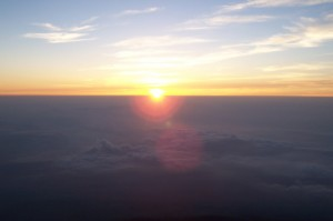 Wschód Słońca naFuji