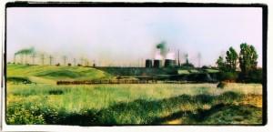 Pejzaż symboliczny. Górny Śląsk (zdjęcie przetworzone)