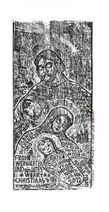 """""""Rodzina"""", Rudolf Riedel, 2011 (1/200; linoryt)"""