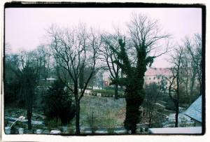 Zimowy widok zokna