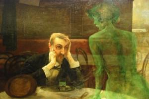 Pijak absyntu, Viktor Oliva (fragment obrazu)