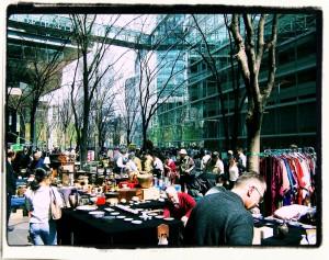 Antique market in Tokyo / Tokio. Targ staroci w Tokyo International Forum