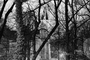 Die Zeit / Czas (der Uhrturm des Schlosses in Plawniowitz / Wieża zegarowa pałacu wPławniowicach)
