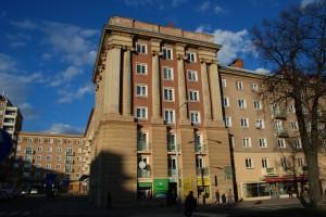 Poruba, fragment zabudowy (przy placu Głównym)
