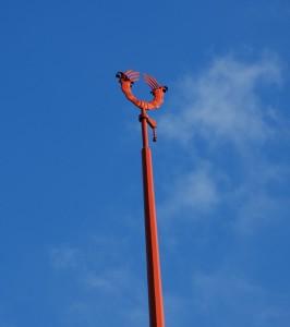 Symbol (zwieńczenie iglicy wieży przy ulicy Nałuku; Poruba, 2015)