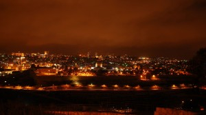 Jerozolima nocą / Jerusalem at night (as seen from the Mount of Olives)