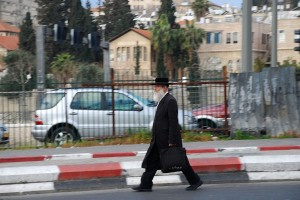 Idący / A walking man (Jeruzalem, Jerusalem)