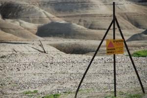 Danger - mines / Niebezpieczeństwo - miny (Israeli - Jordanian Border)