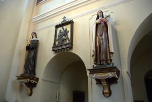 Figury (wnętrze kościoła parafialnego wBieńkowicach)