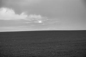 Das Landschaft mit Sonne