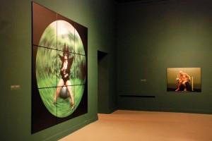 Kruk Odyna (2004; lewa strona), fragment aranżacji wystawy