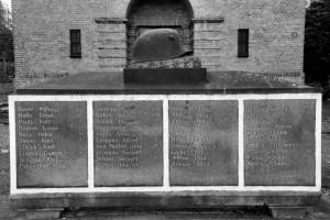 Nazwiska (pomnik poległych podczas Iwojny światowej; dawny cmentarz ewangelicki, Racibórz)