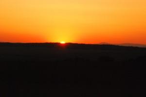 Zachód Słońca [Brama Wielkomorawska; pogranicze polsko-czeskie]