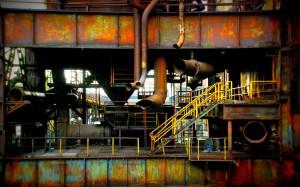Kolory industrialu [Dolna Oblast Witkowice - tereny dawnego kombinatu w morawskiej Ostrawie]