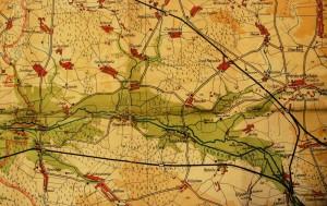 Mapa Plawniowitz (sprzed 1936 roku)