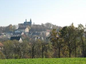 Współczesny widok Góry św.Anny (jesienna odsłona, 2013)