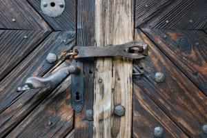 bez tytułu (Wojkowa, drzwi d. cerkwi)