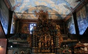 Niebo (wnętrze kościoła Świętej Trócy, Kieżmark, stan 2015)