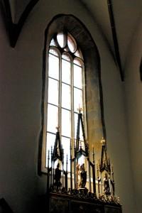 Trwanie Archanioła (fragment wnętrza bazyliki pw.św.Krzyża; Kieżmark, 2015)